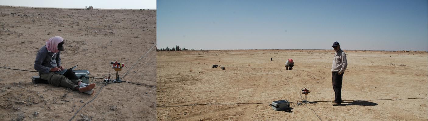Radiomagnetotellurik (RMT) in Azraq/Jordan